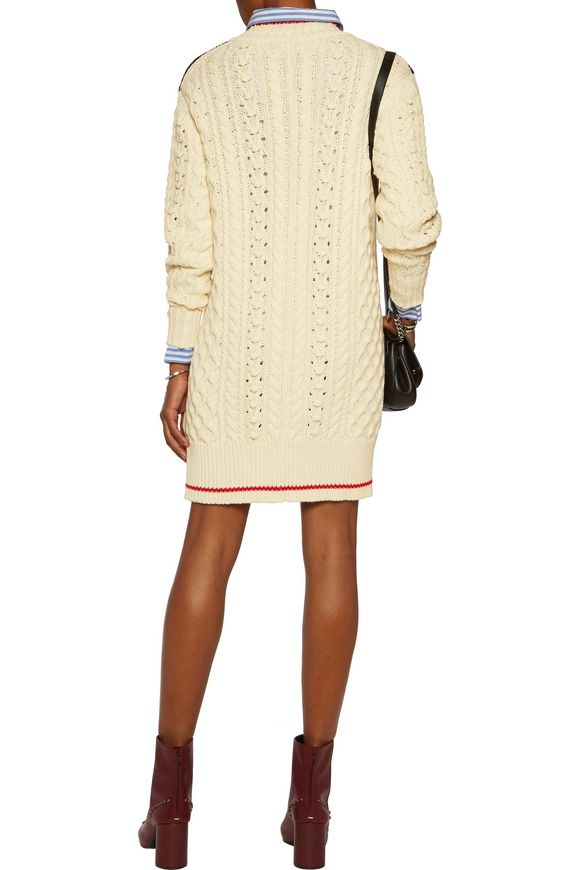Stripe-trimmed wool-blend sweater | ISABEL MARANT | Sale up to 70% off |  THE OUTNET