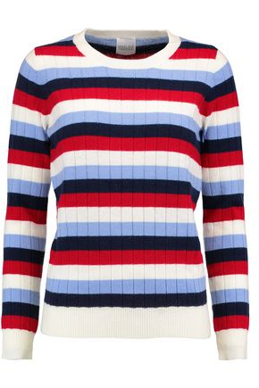MADELEINE THOMPSON Amber striped wool and cashmere-blend ribbed-knit sweater