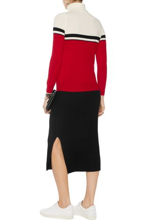 MADELEINE THOMPSON Amy color-block wool and cashmere-blend turtleneck sweater