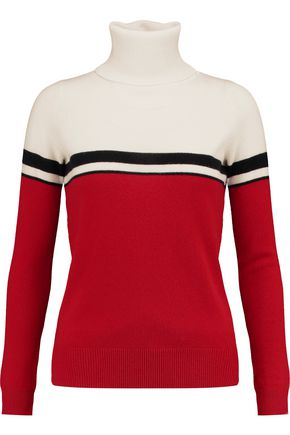 MADELEINE THOMPSON Vidos intarsia wool and cashmere-blend turtleneck sweater