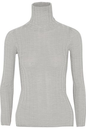 MADELEINE THOMPSON Makri ribbed wool and cashmere-blend turtleneck sweater