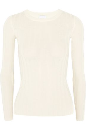 MADELEINE THOMPSON Halki ribbed wool and cashmere-blend sweater