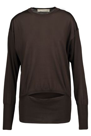 STELLA McCARTNEY Cutout silk sweater