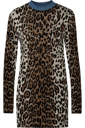 STELLA McCARTNEY Leopard-print jacquard sweater