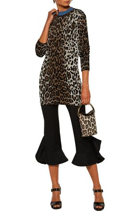 ... STELLA McCARTNEY Leopard-print jacquard sweater ...