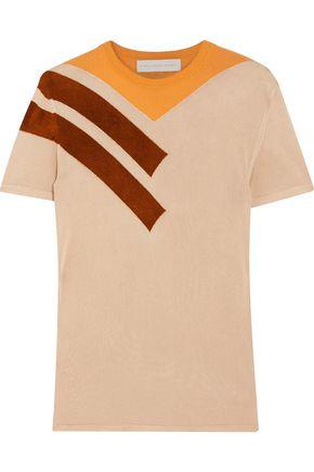 STELLA McCARTNEY Paneled stretch-knit top