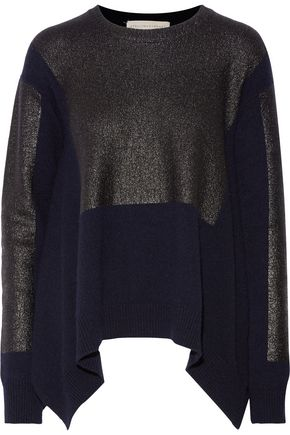 STELLA McCARTNEY Coated cashmere and wool-blend sweater