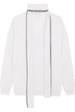 BRUNELLO CUCINELLI Chain-trimmed cashmere sweater