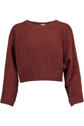 BRUNELLO CUCINELLI Cropped ribbed wool-blend sweater