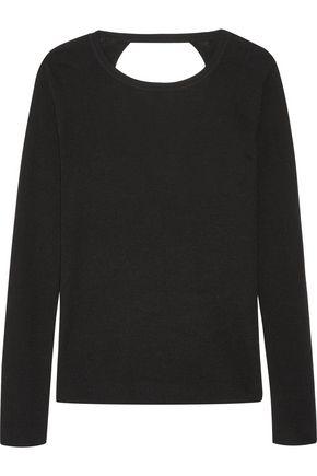 DIANE VON FURSTENBERG Kylee open-back merino wool and silk-blend sweater