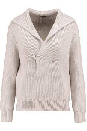TOTÊME Runa ribbed merino wool and cotton-blend sweater
