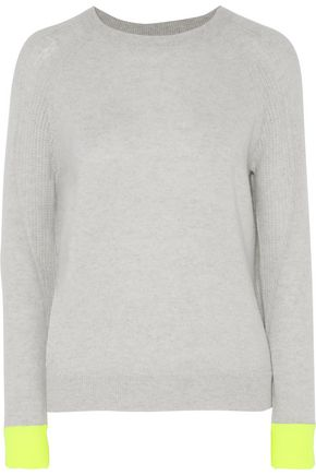 DUFFY Neon two-tone cashmere sweater