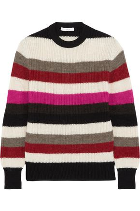 IRO Striped stretch-knit sweater