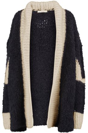 IRO Two-tone knitted cardigan