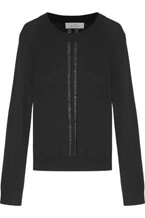 IRO Ash distressed silk and wool-blend sweater