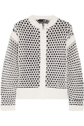 LOVE MOSCHINO Open-knit cotton-blend cardigan