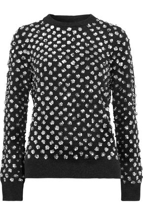 MICHAEL KORS COLLECTION Sequin-embellished cashmere sweater