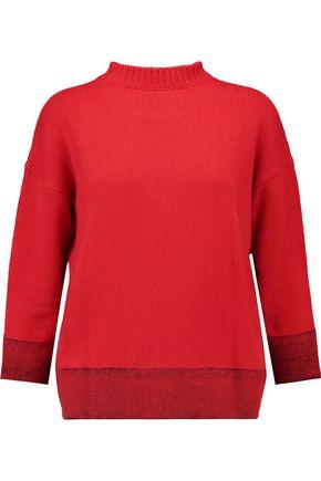MARNI Felt-paneled cashmere-blend sweater