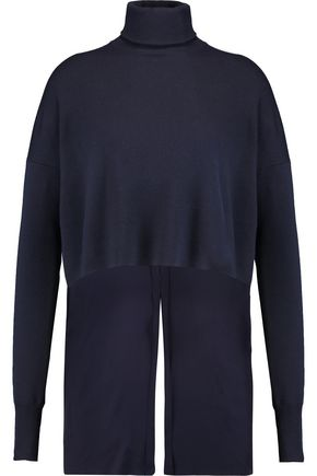 TIBI Merino wool and silk turtleneck sweater