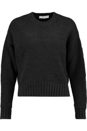 IRO Lish lace-up stretch-cotton blend sweater