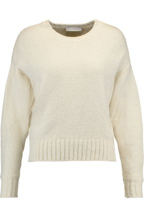 IRO Lace-up cotton-blend sweater