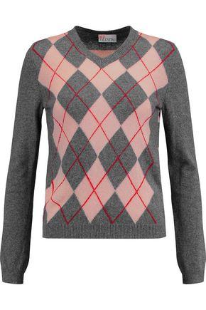 REDValentino Intarsia-knit sweater