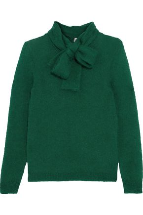 REDValentino Pussy-bow mohair-blend sweater