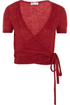 REDValentino Crochet-knit mohair-blend wrap sweater