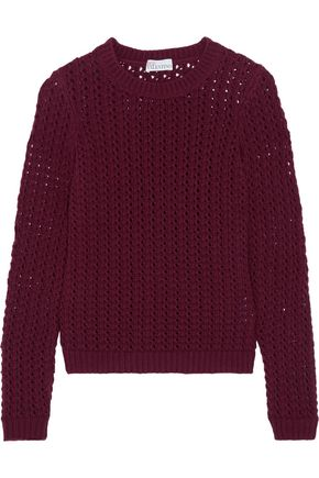 REDValentino Wool and cashmere-blend open-knit sweater