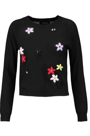 SIMONE ROCHA Embroidered merino wool, silk and cashmere-blend sweater