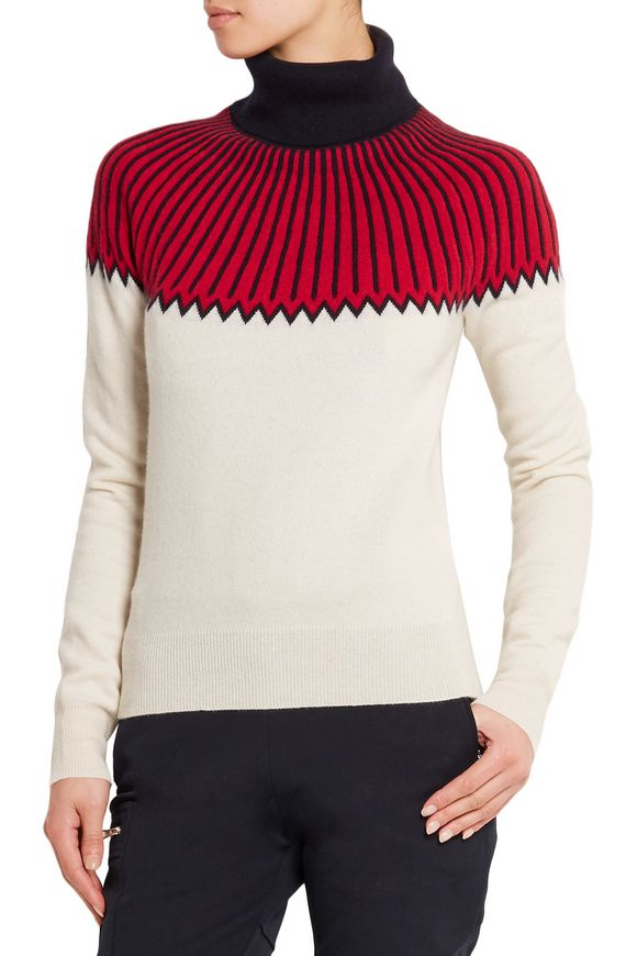 Snow Capsule intarsia cashmere turtleneck sweater | CHLOÉ | Sale up to 70%  off | THE OUTNET