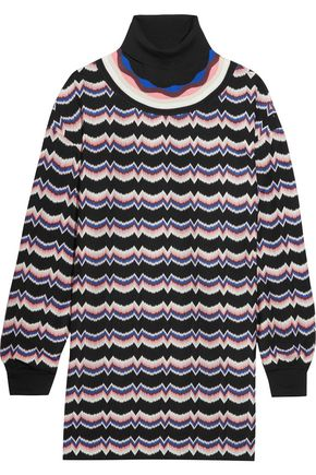 MISSONI Wool-blend crochet-knit turtleneck tunic
