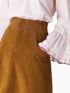 A-line velvet skirt