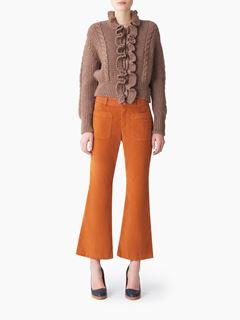 Bootcut velvet pants