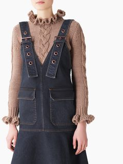 Dungaree denim dress
