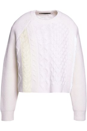 ALEXANDER WANG Cable-knit wool-blend sweater
