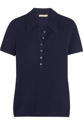 MICHAEL KORS COLLECTION Ribbed cashmere polo shirt