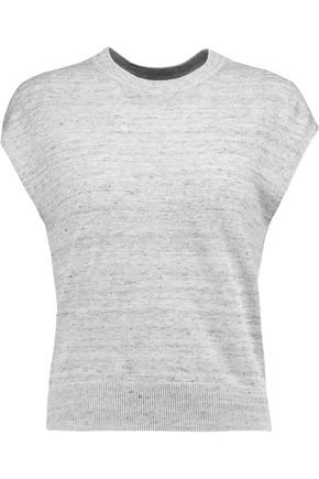MICHAEL KORS COLLECTION Ribbed linen-jersey tank