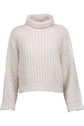 BRUNELLO CUCINELLI Flocked cashmere-blend turtleneck sweater