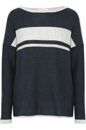 DUFFY Striped knitted cashmere sweater
