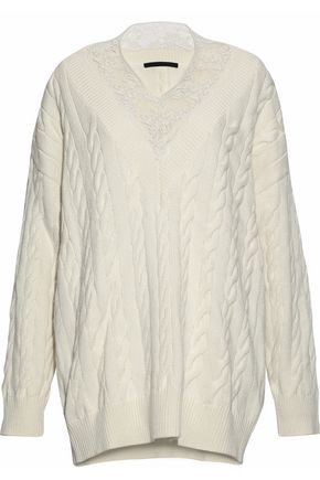 ALEXANDER WANG Cotton and wool-blend sweater