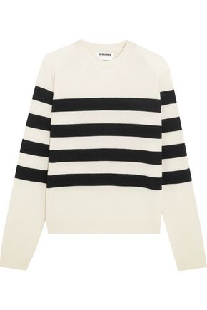 JIL SANDER Striped cashmere sweater