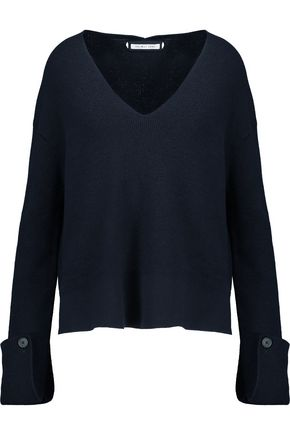 HELMUT LANG Ribbed cotton, wool and cashmere-blend sweater