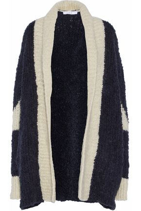 IRO Two-tone bouclé-knit cardigan