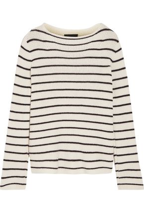 THE ROW Stretton striped cashmere and silk-blend sweater