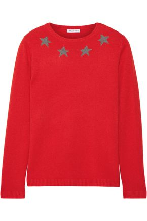 BELLA FREUD Star Spangle metallic intarsia cashmere-blend sweater