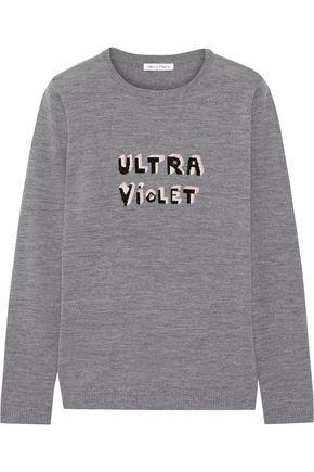 BELLA FREUD Ultra Violet intarsia merino wool sweater