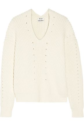 ACNE STUDIOS Bernice ribbed cotton-blend sweater