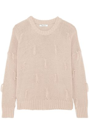 MADEWELL Tasseled cotton sweater