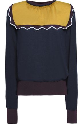ROKSANDA Ruffle-trimmed wool sweater